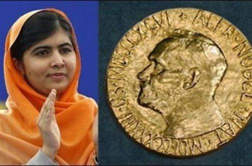 Article : Le Nobel Malala Yousafzai:  l'instruction appartient à l'humanité